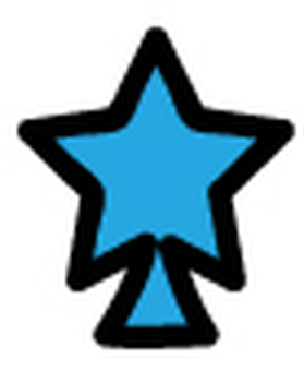 Overlapping tree (star 3)
