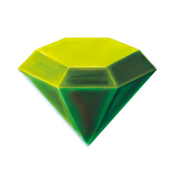 Gemstone diamond type (green)