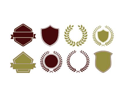 禮物和徽章框架