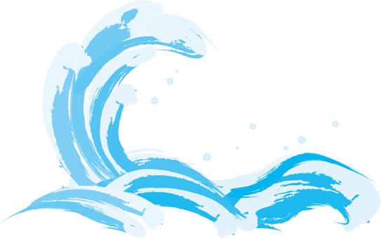 Japanese style wave image 7