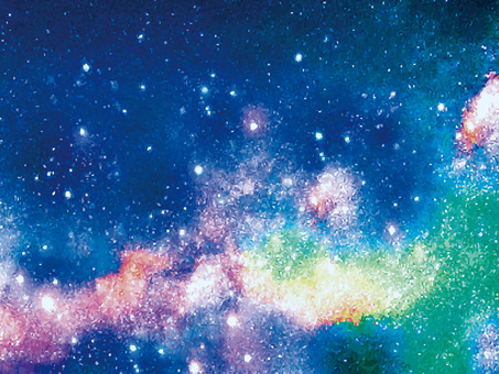 Milky Way Starry sky illustration background July wallpaper real