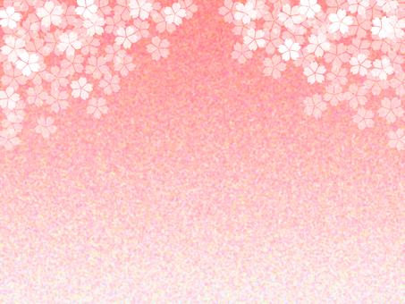 Cherry blossom wallpaper, flower pattern background material illustration