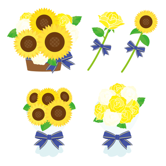 父の日 黄色いバラ・ひまわり