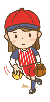 垒球女孩(投手)