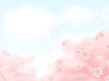 Cherry blossoms and blue sky cards