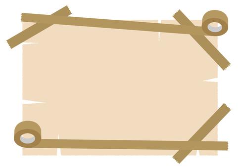 Frame of gum tape