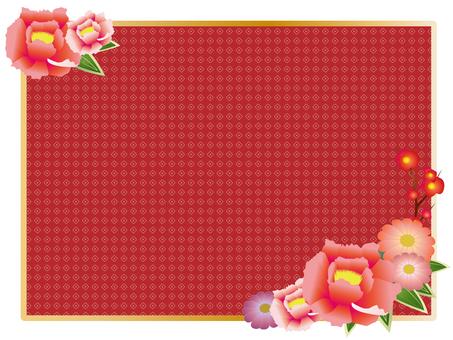 Japanese flower decorative frame 2