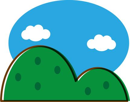 A simple mountain landscape