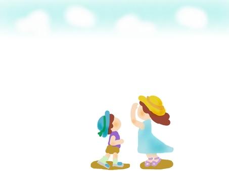 女孩,查尋對天空的男孩