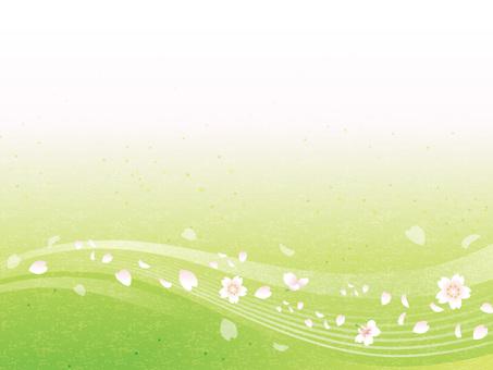 Cherry blossom running water image Washi 03