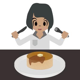 I want to eat pancakes