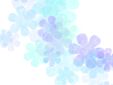 Flower watercolor aqua