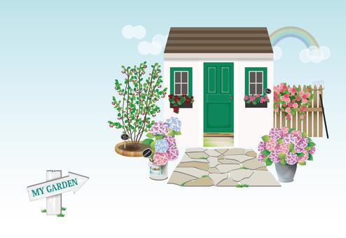 초여름 정원 엽서