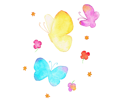 Butterflies and small flowers