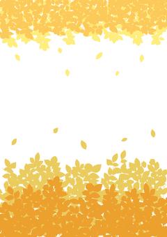 Plant silhouette_orange