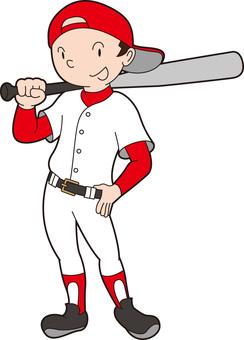 Baseball-kun standing pose 2