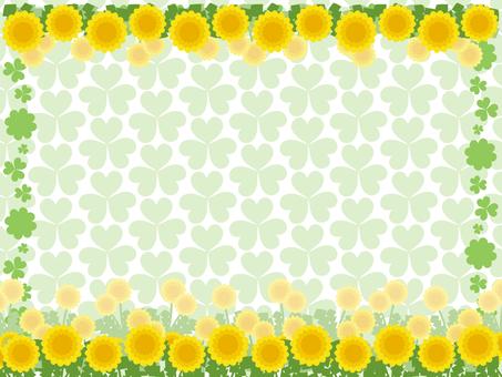 Dandelion and clover background 5