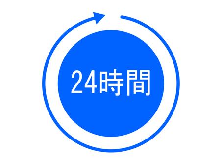 24 hours (Cyan)