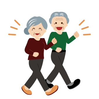 Healthy old senior citizen (grandpa and grandmother)