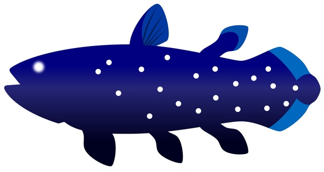 Deep sea fish coelacanth