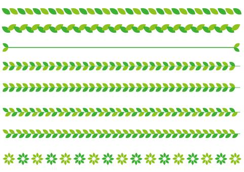 Ruled line - Leaf link - Green