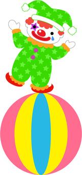 Pierrot_騎著一個球