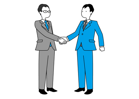 Simple office worker-handshake