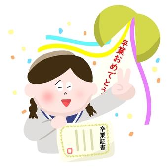 Diploma and Kusuma and girls students