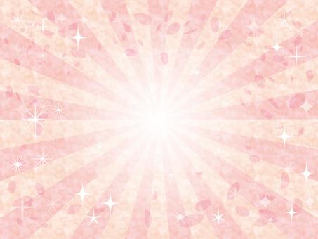 배경 봄 3 월 4 월 벚꽃 집중 선 반짝이 프레임 프레임