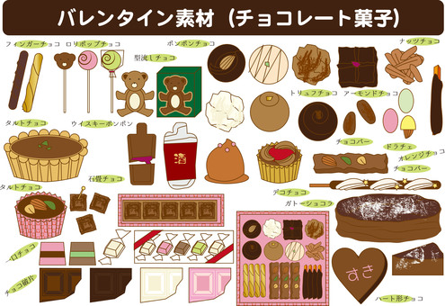 Various chocolate