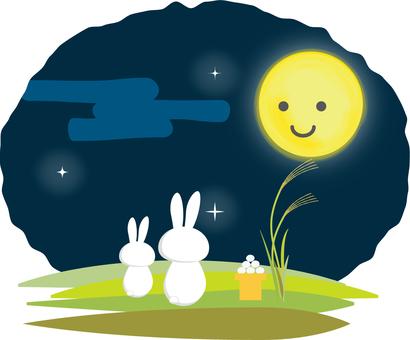 달맞이하는 토끼