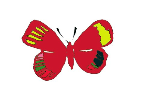 Butterfly · retro · red
