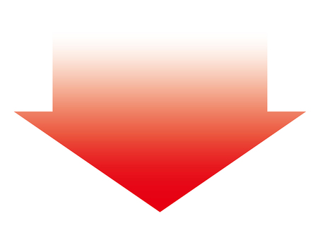 Red gradient down arrow