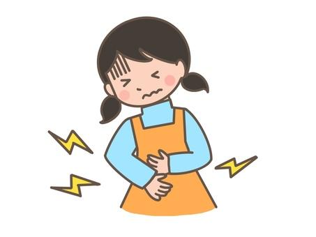 Stomachache girl