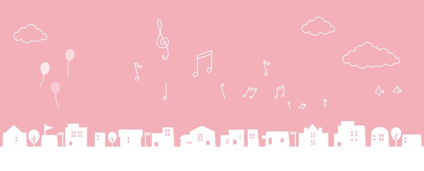 Cute cityscape Simple silhouette