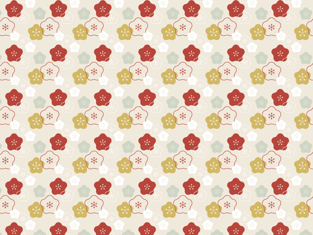 Japanese pattern background pattern Ume ①
