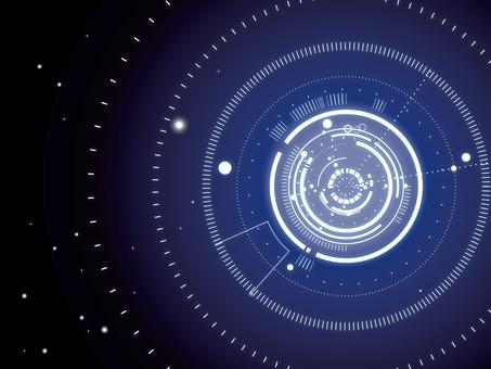 IT Space Wallpaper (Blue)