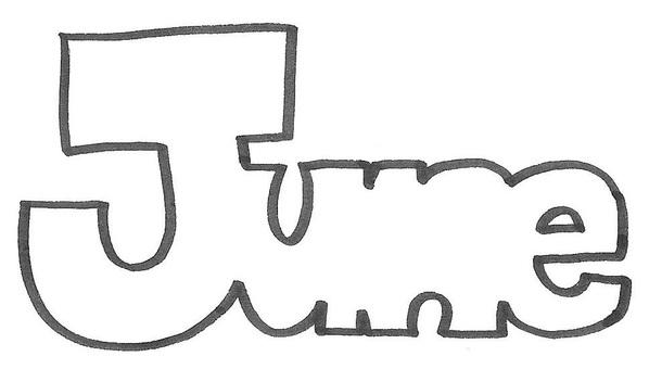 June June English june logo june