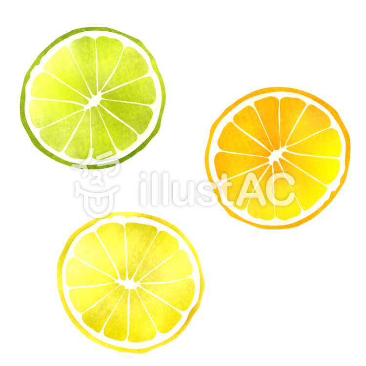 【フリーイラスト素材】フルーツの輪切り