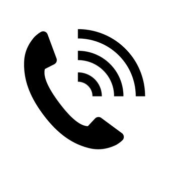 Telephone receiver icon narrowed down