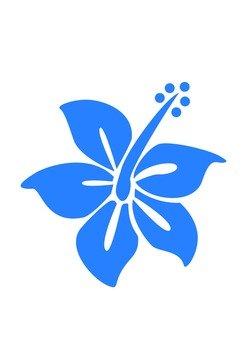 Hibiscus (blue)