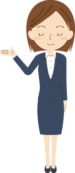 女性生意閉上眼睛2