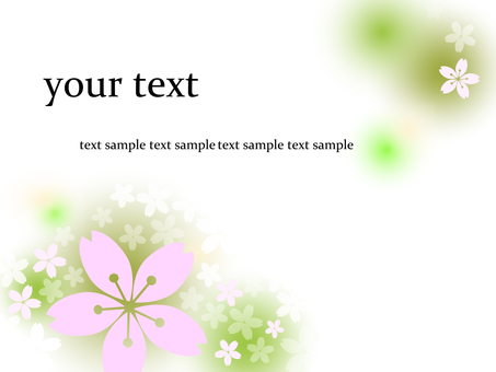 녹차 벚꽃 템플릿