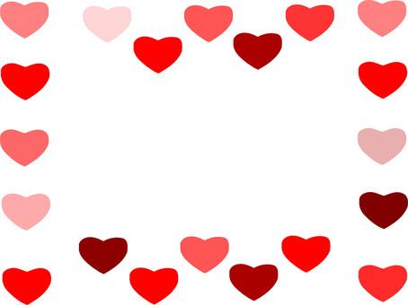 Heart-filled frame