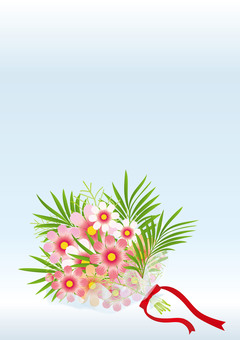 Cosmos & palm leaf bouquets 4