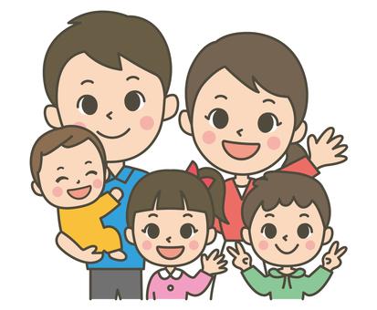 Five-person family