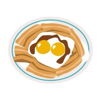 Boiled pork egg 2