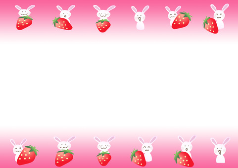 Strawberry and rabbit frame