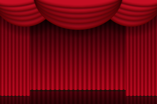 Theater stage background curtain background