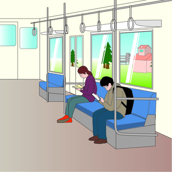 Train Car Local Station Commuting Commuting